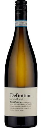 Picture of Definition Pinot Grigio 2020, Delle Venezie