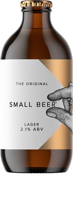 Picture of Small Beer 'The Original' Lager 2.1% 6x350ml Bottles