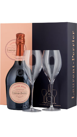 Picture of Laurent-Perrier Rosé Champagne & 2x Champagne Glasses