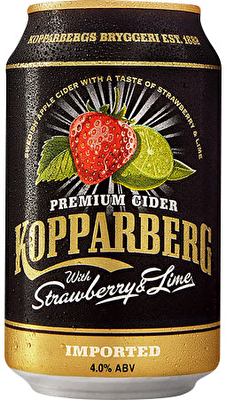 Kopparberg Strawberry and Lime Cider 12x330ml Cans