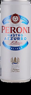 Peroni Nastro Azzurro Slimline Can 10x330ml 5.1%