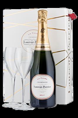 Laurent-Perrier 'La Cuvée' Champagne & 2x Champagne Glasses
