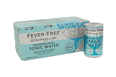 Fever Tree Refreshingly Light Mediterranean Tonic 8x150ml Cans