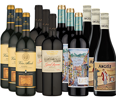 Majestic Favourites 12 Red Wine Case